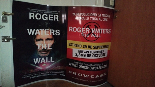 poster promocional original the wall roger waters pink floyd