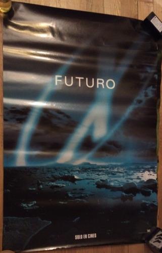 poster promocional original x-file pelicula expedientes