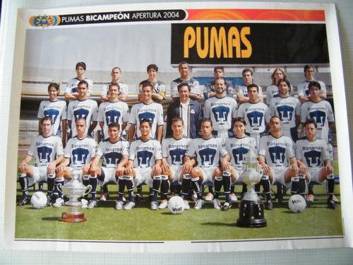 poster promocionla tienda pumas bicampeones 2004