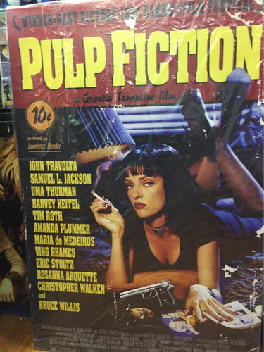 poster pulp fiction en tela pvc pelicula