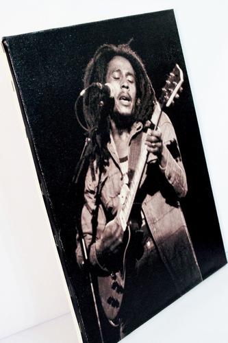 poster quadro bob marley impresso em tela de pintura