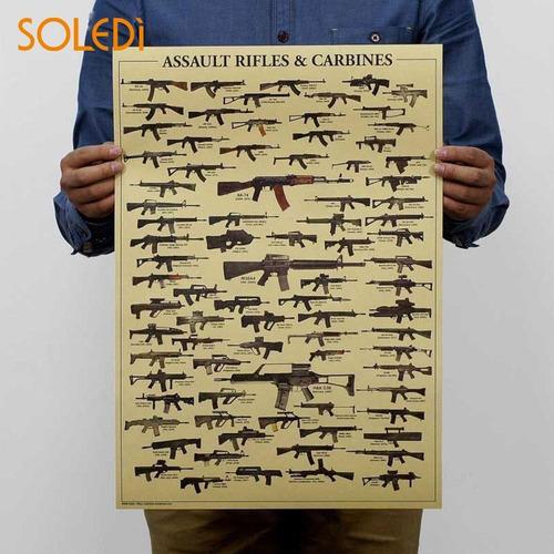 poster quadro cartaz retro vintange armas
