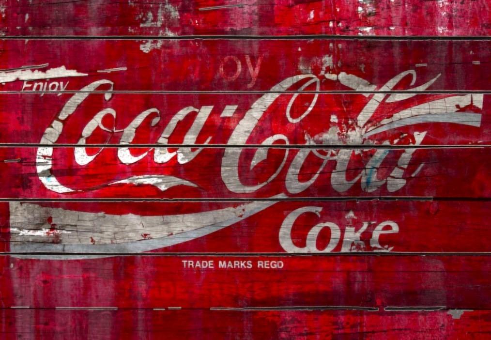 poster quadro coca cola vintage rustico retro mdf r 45 00 em mercado livre. Black Bedroom Furniture Sets. Home Design Ideas