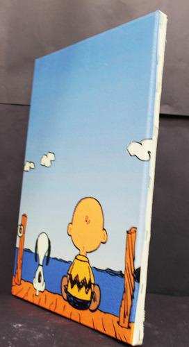 poster quadro snoopy impressão em canvas 30x40