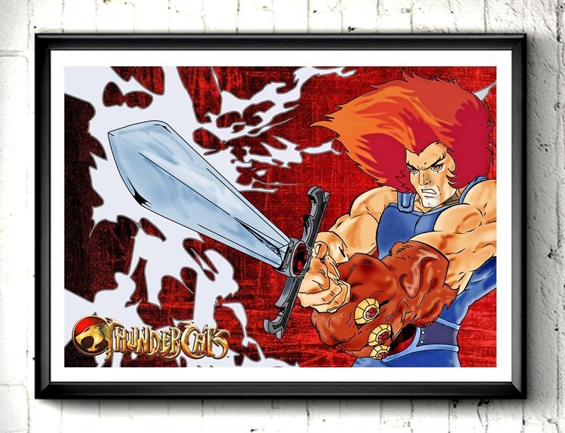 Poster quadro thundercats lion i r$ 77 00 em mercado livre