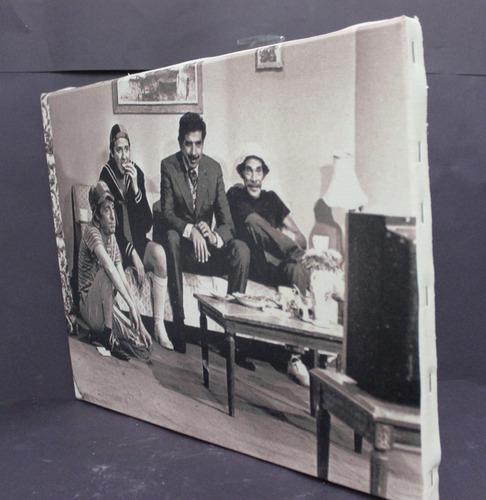 poster quadro turma do chaves impressão em canvas 30x40