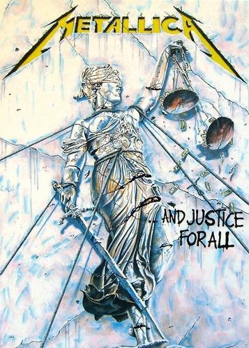 poster rock 65x100cm and justice for all para decorar quarto