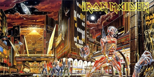 poster rock hd iron maiden 45x90cm foto somewhere in time
