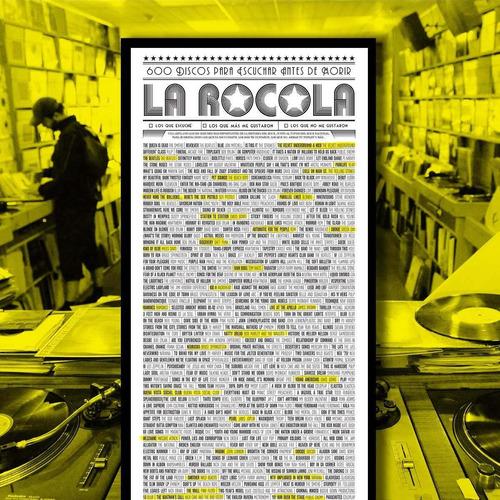 poster rocola, 600 discos para escuchar antes de morir