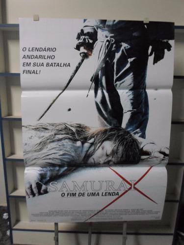 poster samurai x - o fim de uma lenda - 64 x 94
