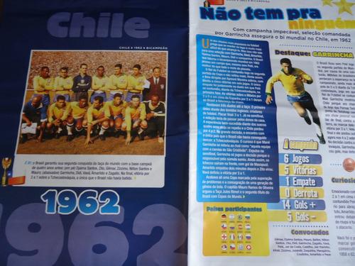 poster seleção brasileira bi copa do mundo 1962 54 x 41cm