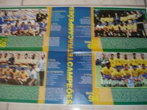 poster seleção brasileira tetracampeões