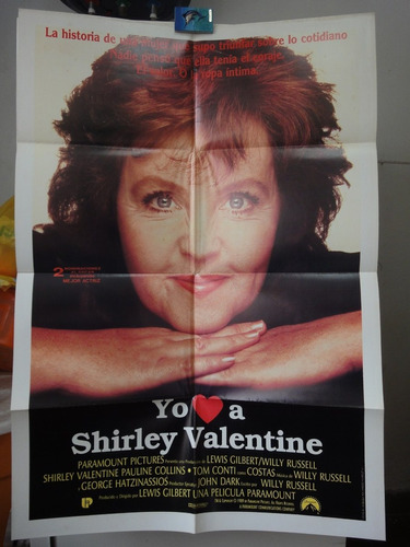 poster shirley valentine pauline collins lewis gilbert 1989