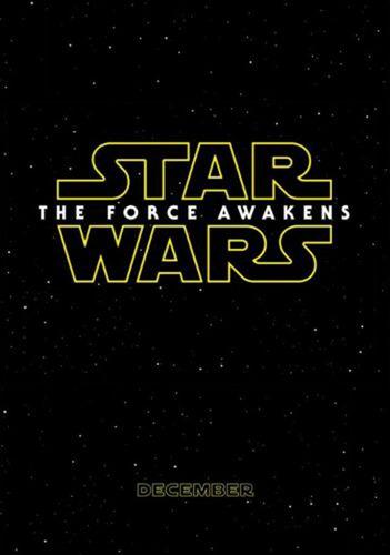 poster star wars episodio 7 original force awakens doble lad
