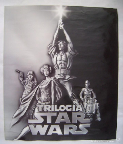 poster star wars trilogia original unico en venezuela!