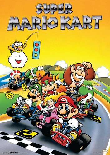 poster super mario kart nintendo video game