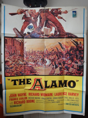 poster the alamo john wayne richard widmark laurence harvey