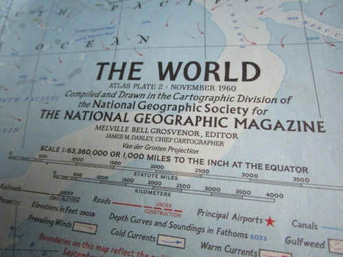 poster the world - the national geographic magazine / 1960