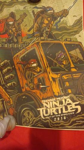 poster tortugas ninja 2016 edicion limitada