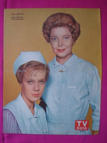 poster tv guia n°48 zina bethune shirl conway las enfermeras