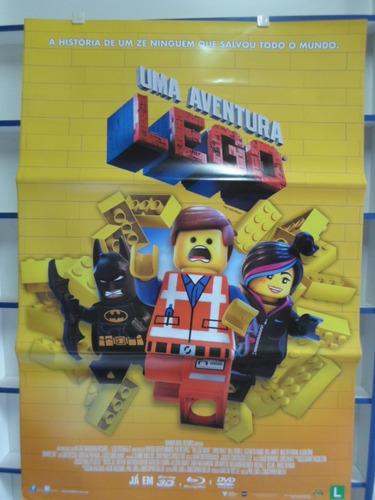 poster uma aventura lego - dupla face - 64 x 94