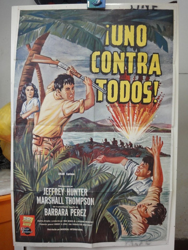 poster uno contra todos jeffrey hunter marshall thomson 1962