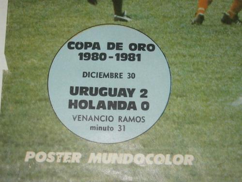 póster uruguay copa de oro 1980 gol venancio