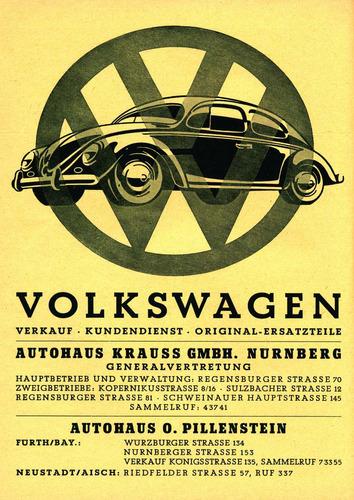 poster vintage carro fusca alemão - tamanho a-3 frete grátis