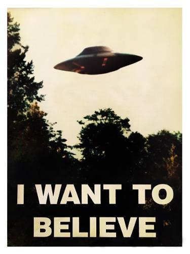 poster x-files i want to believe diseño original 40 x 60 cm