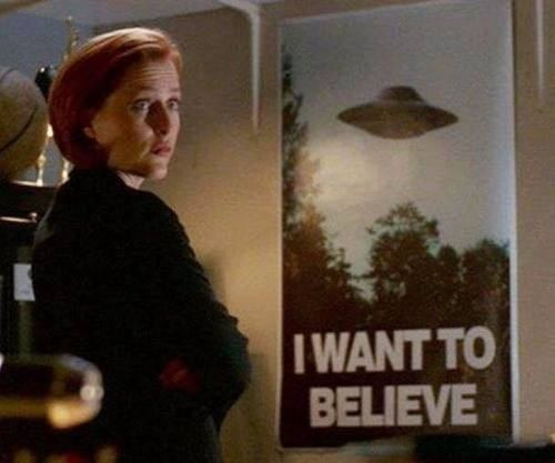 poster x-files i want to believe diseño original 60 x 80 cm