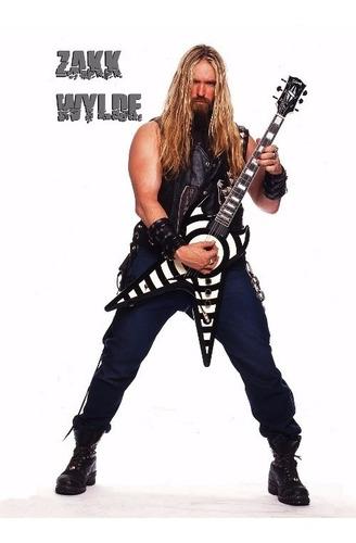 poster zakk wilde grande 60cmx84cm rock cartaz guitarristas