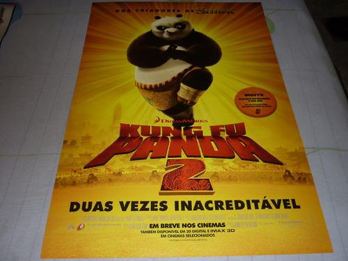 poster/cartaz oficial do filme kung fu panda 2 (ver. lanç.)