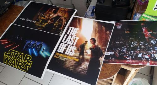 posters 48 x 33 cm jogos animes personagens filmes fotos