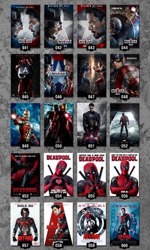 posters cine afiches peliculas 45x30 cm avengers marvel dc