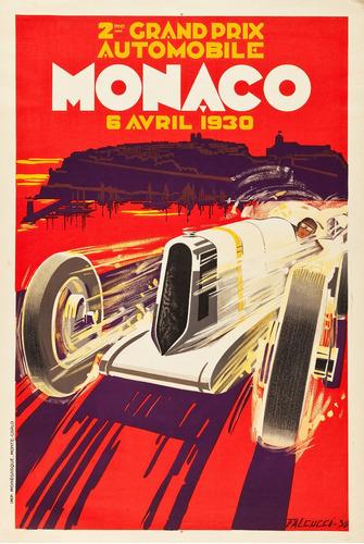 posters de carreras de autos y motos clásicas