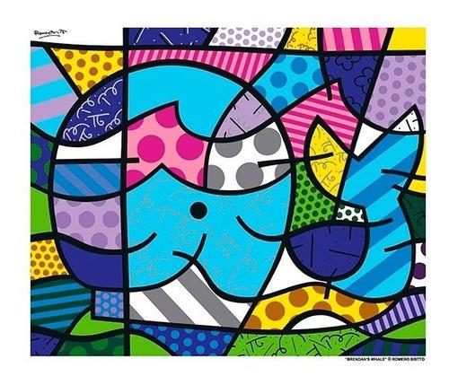 posters - gravuras oficiais romero britto - brendan´s whale
