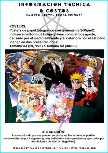 posters personalizados a3+ 48x33cm rock anime juegos series