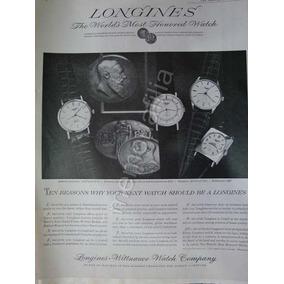c63d2f2adda0 Publicidad Antigua Relojes Longines 1950 Qqx