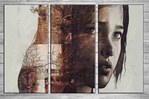 posters the last of us cuadros tripticos modernos 90x57  a11