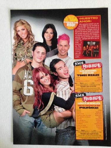 posters y recortes de rebelde rbd revistas españolas  anahí
