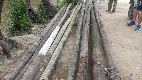 postes impregnados reciclados venta por metro