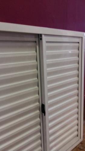 postigon corredizo de aluminio blanco 120x110