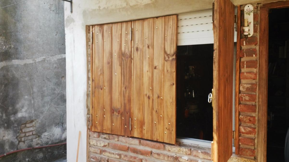 Postigones De Madera Dura 1.80 X 1.20mt Para Ventanas - $ 3.600,00 ...