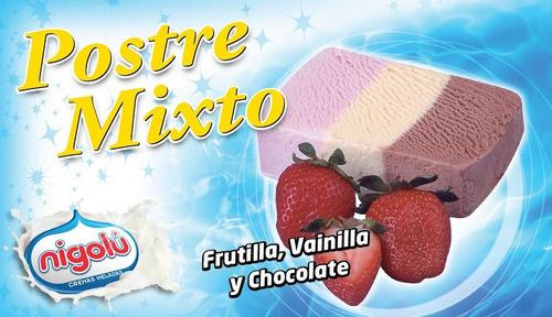 postre helado casata tricolor para eventos porc x 24unid