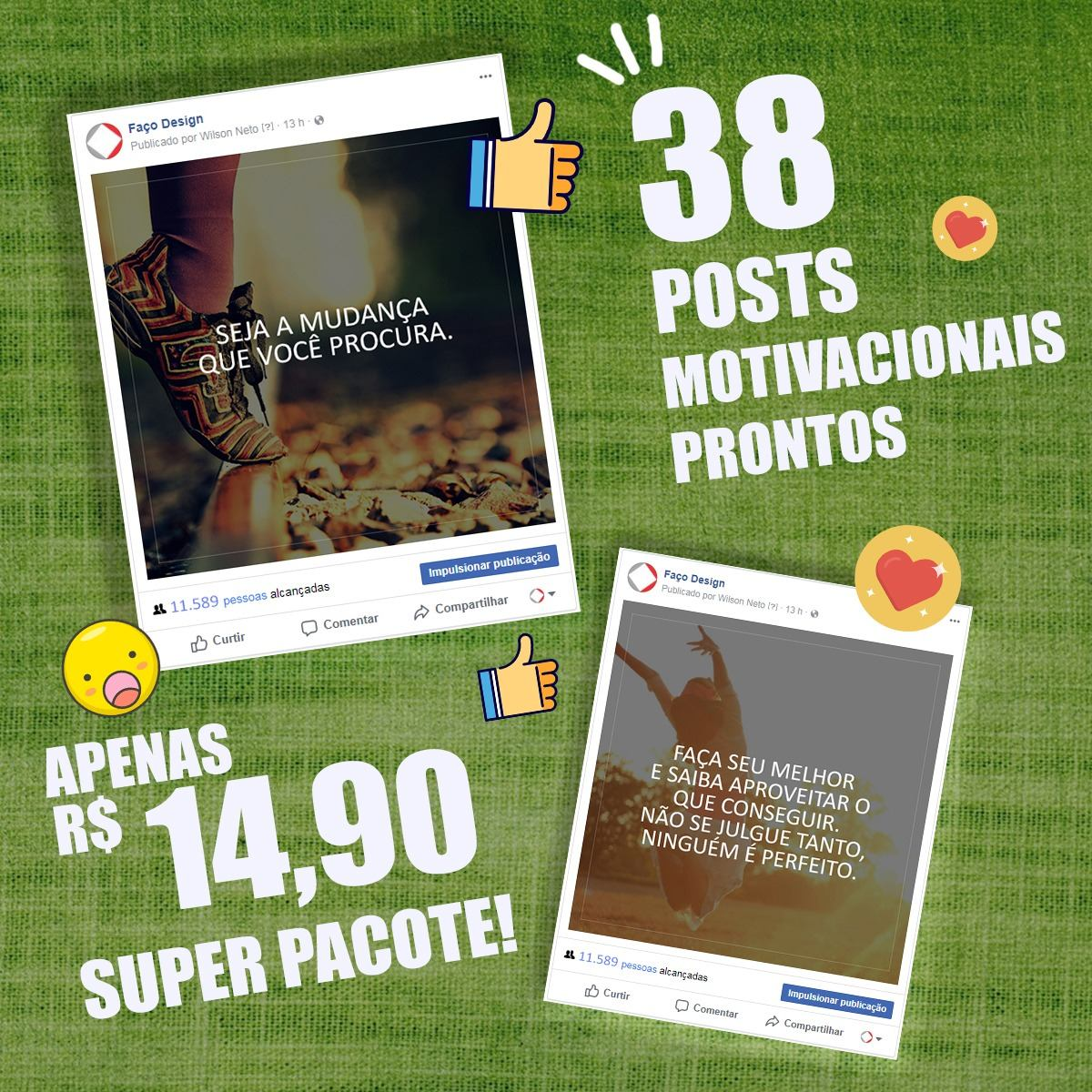 Posts Para Facebook E Instagram Motivacional Promoçâo