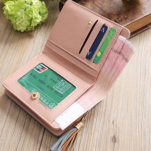 Potato001 Portable Retro Credit Card Case Flower Tassels Change Cash Money Holder Wallet