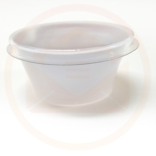 pote 30ml branco com tampa para molhos - pacote com 500 uni