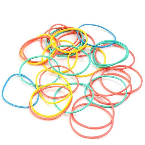 pote bandas elasticas x350gr blister de colores