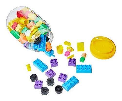 pote de monta monta infantil brinquedo 80 peças divertido.