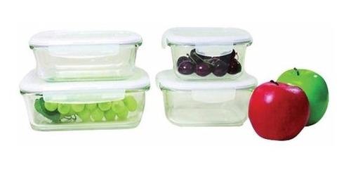 pote de vidro tampa hermética 2 peças quadrado forno freezer